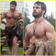Henry Cavill - as Superman in forthcoming Man of Steel movie