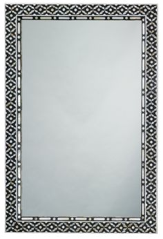 Mother of Pearl inlaid in an exquisite design for an exotically graceful accent to any room. This mirror features a beautiful gray and white pattern. Entryway Mirror, Burke Decor, Beveled Mirror, Pearl Color, Round Mirrors, White Patterns, Grey And White, Oversized Mirror, Frame