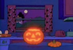 Find GIFs with the latest and newest hashtags! Search, discover and share your favorite The Simpsons GIFs. The best GIFs are on GIPHY. Photo Halloween, Halloween Vintage, Halloween Gif, Halloween Cartoons, Halloween Quotes, Halloween Pictures, Halloween Season, Halloween Pumpkins, Happy Halloween