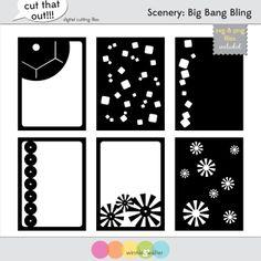 Scenery: Big Bang Bling Digital Cut Files