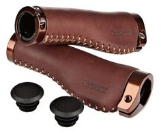 Cardiff Balmoral Genuine Leather Locking Grips in Tree Fort Bikes Grips (cat1410)