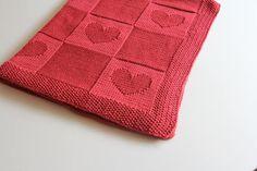Babydecke stricken / Hand gestrickte Babydecke / Decke aus