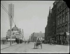 Flinders St,Melbourne in 1914.A♥W
