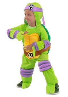 Child TMNT Donatello Deluxe Jumpsuit -Skills are important in a young man's life.  Donatello of the Teenage Mutant Ninja Turtles has both of those skills and he's doing pretty well for himself. Get it now at http://shrsl.com/?duhb (affiliate link)