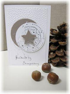 Weihnachtskarte mit selbst entworfenem Stempel (.)