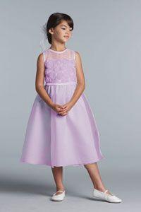 Flower Girl Dresses - US Angels Flower Girl Dress Style 100- VIOLET- SALE Violet sizes 4, 5,6, 6X or 14