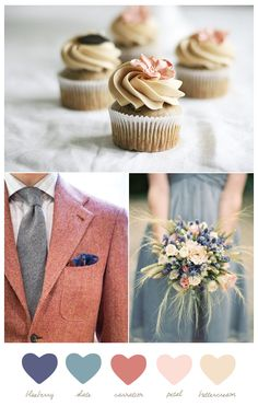 Blueberry + carnation | from The Sweetest Occasion