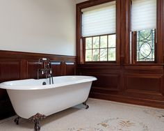 Master bath at the Classic Scarsdale Brick Colonial | Fivecat Studio Architecture and Construction | Architects serving Westchester County, NY