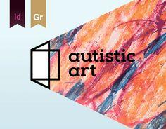 Ознакомьтесь с этим проектом @Behance: «autistic art - brand identity» https://www.behance.net/gallery/36916703/autistic-art-brand-identity