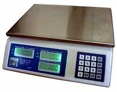 """Penn Price Computing Scale by Penn Scale. $212.16. Design is stylish and innovative. Satisfaction Ensured.. Great Gift Idea.. Manufactured to the Highest Quality Available.. Capacity: 30 lbs LCD display (5/5/6) with backlight and auto display setting 4.3"""" high x 13.1"""" long x 12.5"""" wide DC - 6V/5 ah rechargable battery. AC - 12 V 50/60 Hz. Charge life: 120 hrs Comes with standard power cable Tactile keypad switches NTEP COC #04-101 (legal for trade) TARE, ZERO, SAVE..."""