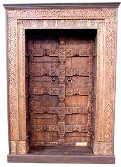 Wood Doors,Indian Antique Wooden Doors,Indian Hand Carved Wood Doors  - Antique wooden door images
