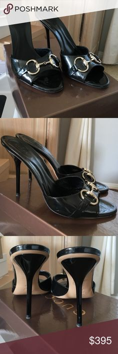 Gucci heels Gucci heels. Gently worn. Slight scuff on right heel as shown in pic3. Comes w/ box and dust bags. Gucci Shoes Heels