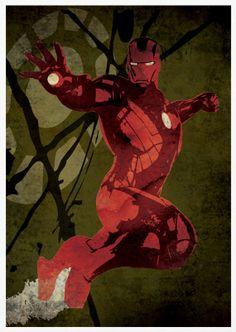 Iron Man Retro Pop Art A3 Poster Print by posterkingdom on Etsy
