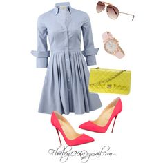 A fashion look from April 2015 featuring Michael Kors dresses, Christian Louboutin pumps and Chanel shoulder bags. Browse and shop related looks.