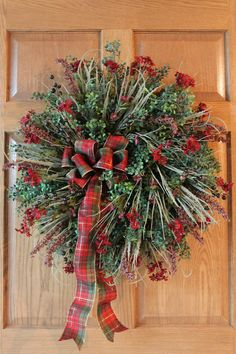 Front Door Wreath Great For Fall Thru Christmas by FloralsFromHome,