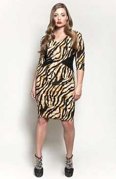 The Claire Dress - Tiger Print $115