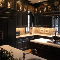 Black Kitchen Cabinets Design Ideas, Pictures, Remodel, and Decor - page 8