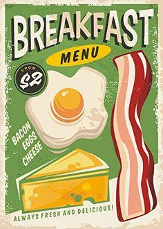 Vintage Diner, Vintage Menu, Vintage Metal Signs, Vintage Ads, Vintage Food Posters, Restaurant Poster, Retro Recipes, Retro Wallpaper, Creative Posters