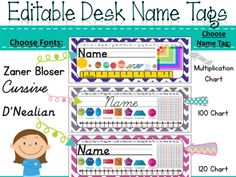 Name Tags {Chevron Polka Dot} from TheTravelingclassroom on TeachersNotebook.com -  (116 pages)  - Chevron Polka Dot Desk Name Plates with Editable Name Labels!