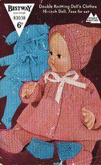 Bestway 3038 dolls clothes vintage knitting pattern