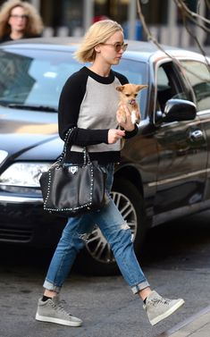 Jennifer Lawrence's Dog Pippi is Clearly Her Best Accessory