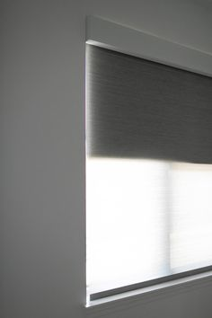 Today I'm sharing one of my favorite features in our home, which may surprise you - our electric shades! Double Roller Blinds, Lamp, Shades Blinds, Shades, Glass, Glass Door, Remote Blinds