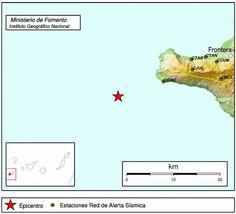 Un terremoto de 3 grados en aguas de El Hierro        Epicentro del terremoto en aguas de El Hierro...