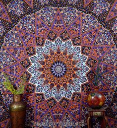 Purple Mandala Indian Tapestry Floral Printed Hanging Double Bed Sheet DBS175 #IndianTapestry