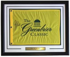 Phil Mickelson Signed Framed 2017 PGA The Classic Golf Flag Beckett BAS A86189