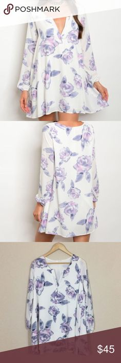 """New L lavender floral tunic dress . Brand new from my boutique  . Model is wearing the exact product  . Fabric content: 100% polyester  . Made in the USA  . Brand is Honey Punch which retails at Nasty Gal, ASOS, Pacsun, Urban Outfitters, etc.  . Also available in solid lavender               Any questions? Don't hesitate to ask  ✨ Use the """"buy now"""" or """"add to bundle"""" feature to purchase ✨ ASOS Dresses Mini"""