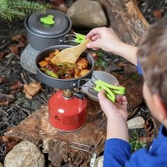 A compact cookware and mess kit for camping enthusiasts.