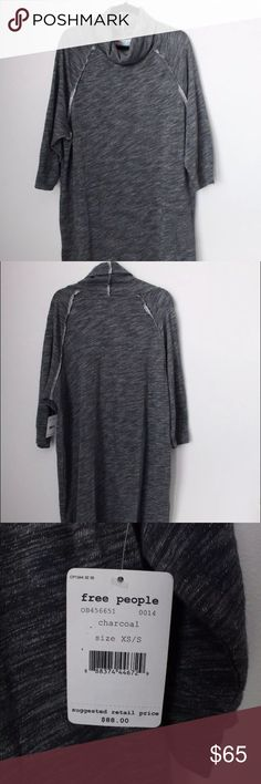 NWT Free People Beach Terri Cocoon Dress Gray New with tags Free People Beach pullover dress. Size XS/S but fits very generously. Definitely could fit a medium or even as a large. Very comfortable and cozy! Free People Dresses Long Sleeve