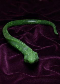 Baby Draco: carved jade snake necklace
