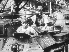 """Numbers of early Type 97 """"Chi-Ha"""" tanks with their determined  crews"""