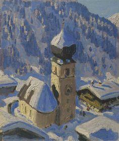 Alfons Walde - Tiroler Bergdorf (Auracher Kirchl)