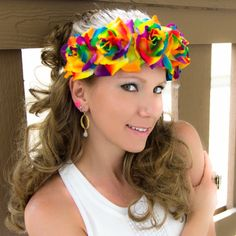 #LUVIT  Rainbows are my lucky charm  Large Rainbow Rose Flower Crown  Available at KittyKatrina.com in our Specialty Flower Crowns Section  #rainbow #rainbowhair #rainbowpride #rainbowroses #rainbowrose #pride #stpatricksday #saintpatricksday #irishgirl #luckoftheirish #flowercrown #flowercrowns #floralheadband #flowerheadband #flowerheadbands #festivalseason #festivalfashion #festivaloutfit #festivalwear #flowerchild #flowerchildren #ravecostume #raveoutfit #ravestyle