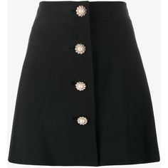 Miu Miu pearl and crystal embellished buttoned mini skirt (15 195 ZAR) ❤ liked on Polyvore featuring skirts, mini skirts, bottoms, miu miu, saias, faldas, black, high waisted mini skirt, high rise skirts and mini skirt