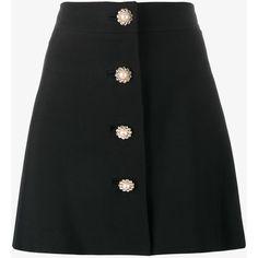 Miu Miu pearl and crystal embellished buttoned mini skirt (15 195 ZAR) ❤ liked on Polyvore featuring skirts, mini skirts, bottoms, miu miu, saias, faldas, black, high waisted mini skirt, high rise skirts and mini skirt