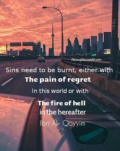 Hopefully we regret our sins in here, not there,