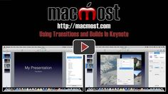Using Transitions and Builds In Keynote