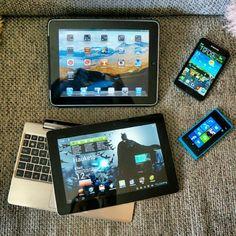 """Våre """"mobile"""" leketøy for tiden. #Android #iOS #WindowsPhone. Fortsatt lyst på flere... #technolust - @gauteweb- #webstagram"""