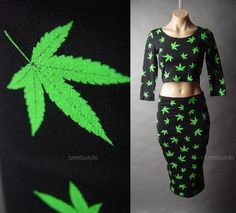 Exude exotic allure in this striking skirt set. Add accessories you scored from your travels and woven heels for a culture-rich look. Dope Fashion, High Fashion, 420 Clothing, Stoner Style, Smoking Girls, Stoner Girl, Grinch, Bud, Haute Couture