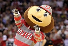 Our beloved Brutus Buckeye, mascot at The Ohio State University