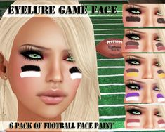 Football face paint idea