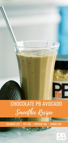 PB Fit - We take away 90 of the fat and two-thirds of the calories. Try a few scoops in your smoothie for a tasty protein boost! Best Smoothie, Avocado Smoothie, Juice Smoothie, Smoothie Drinks, Fruit Smoothies, Healthy Smoothies, Healthy Drinks, Smoothie Recipes, Healthy Snacks