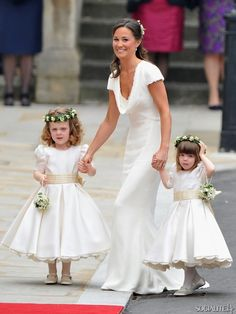 Pippa Middleton wearing McQueen at William and Kate's wedding, perhaps the most famous Maid of Honor dress in decades.