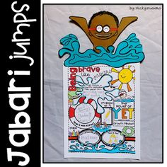 Jabari Jumps Craftivity - perfect for growth mindset and back to school - victoria moore The Power Of Yet, Teaching Procedures, First Day Jitters, Back To School Pictures, Teacher Helper, Teaching The Alphabet, How To Start Conversations, Sweet Stories, Character Education