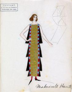 Thayaht cubist dress