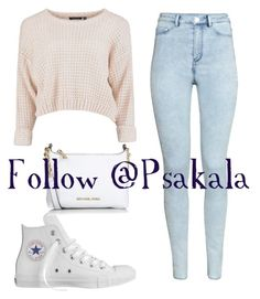 """Follow @psakala"" by aniyahg ❤ liked on Polyvore featuring H&M, Converse, Michael Kors, women's clothing, women, female, woman, misses and juniors"