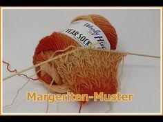 Margeriten - Muster EINFACH Stricken / in Reihen und Runden / mit YEAR SOCKS von Woolly Hugs - YouTube Knit Crochet, Crochet Hats, Easy Knitting, Hug, Knitted Hats, Daisy, Make It Yourself, Pattern, Crafts